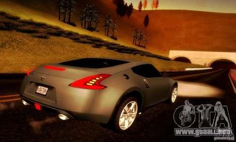 Nissan 370Z V2 para GTA San Andreas vista posterior izquierda