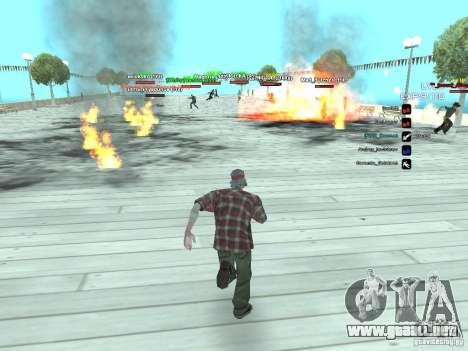 SA:MP 0.3d para GTA San Andreas quinta pantalla