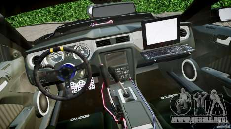 Ford Shelby GT500 para GTA 4 vista hacia atrás
