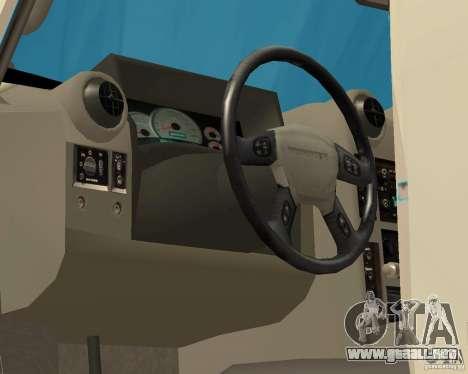 Hummer H2 MONSTER para visión interna GTA San Andreas