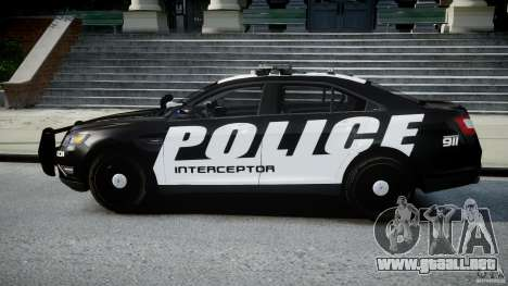 Ford Taurus Police Interceptor 2011 [ELS] para GTA 4 left