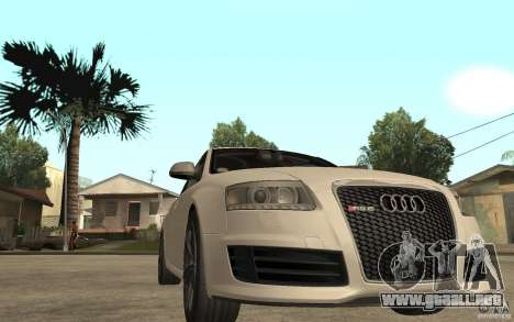 Audi RS6 2009 para GTA San Andreas vista hacia atrás