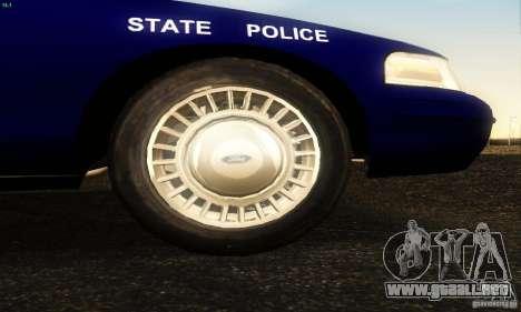 Ford Crown Victoria Masachussttss Police para la visión correcta GTA San Andreas
