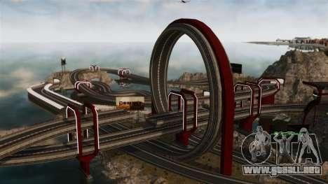 Stunt Speedway Park para GTA 4 adelante de pantalla