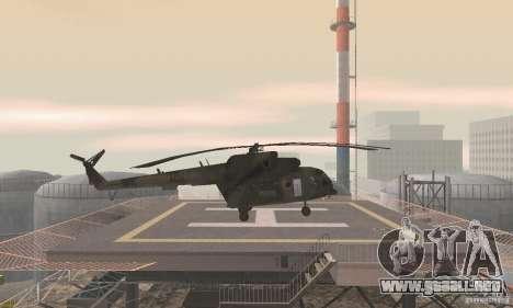 MI-17 para GTA San Andreas vista posterior izquierda