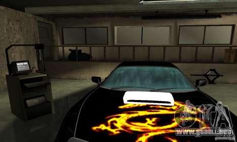 Toyota Supra Tuneable para vista inferior GTA San Andreas