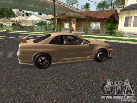 Nissan Skyline Z-Tune para GTA San Andreas vista posterior izquierda