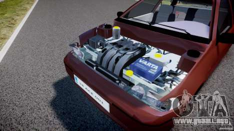 Fiat Palio 1.6 para GTA 4 vista hacia atrás