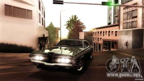 Mercury Cougar Eliminator 1970 para vista lateral GTA San Andreas