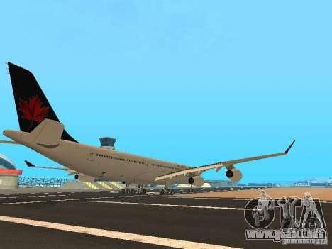 Airbus A340-300 Air Canada para la visión correcta GTA San Andreas