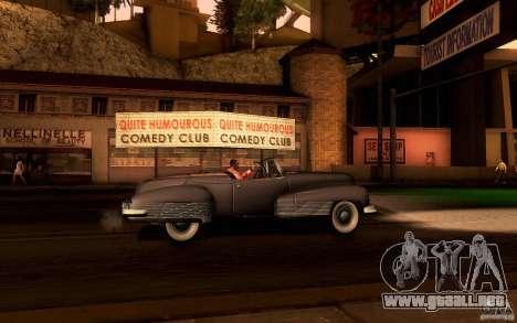 Buick Y-Job 1938 para visión interna GTA San Andreas