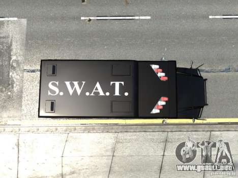 SWAT - NYPD Enforcer V1.1 para GTA 4 vista hacia atrás