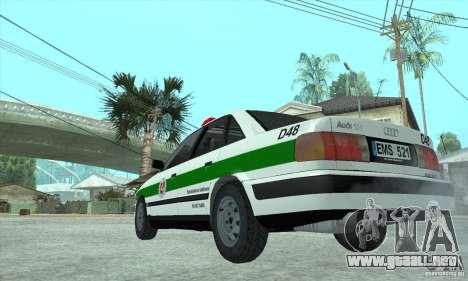 Audi 100 C4 (Cop) para la visión correcta GTA San Andreas