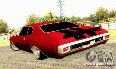 Chevrolet Chevelle 1970 para vista lateral GTA San Andreas