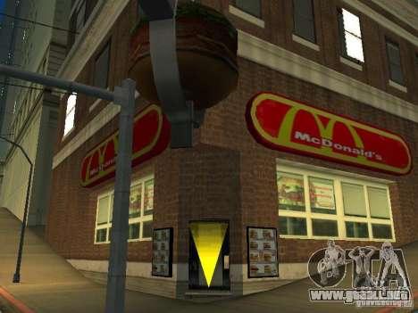 Mc Donalds para GTA San Andreas tercera pantalla