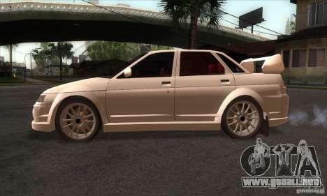 VAZ 2110 WRC para GTA San Andreas left