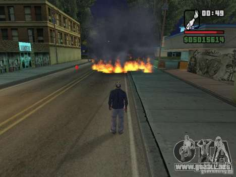New Realistic Effects para GTA San Andreas quinta pantalla