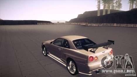 Nissan Skyline R34 para el motor de GTA San Andreas