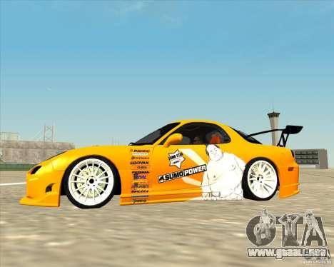 Mazda RX-7 sumopoDRIFT para GTA San Andreas left