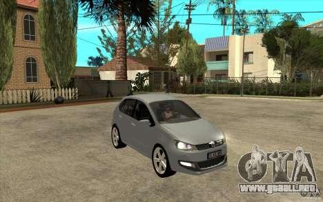 Volkswagen Polo 2011 para GTA San Andreas vista hacia atrás