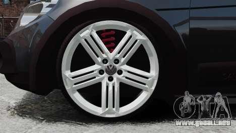 Volkswagen Saveiro Cross Edit para GTA 4 vista hacia atrás