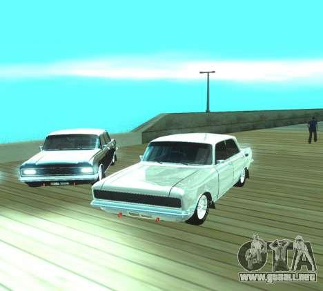 Moskvich 2140 Dragster para GTA San Andreas vista hacia atrás