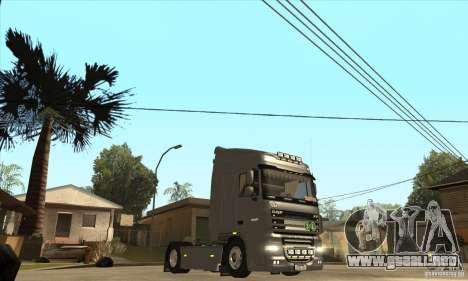 DAF XF para visión interna GTA San Andreas