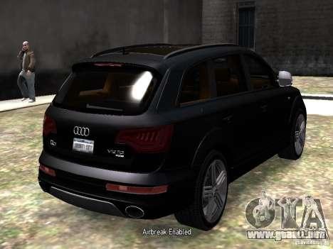 Audi Q7 V12 TDI Quattro Final para GTA 4 visión correcta