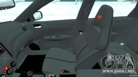 Subaru Impreza WRX STi 2011 Subaru World Rally para GTA 4 vista hacia atrás