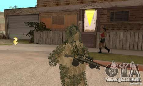 Francotirador de piel para GTA San Andreas segunda pantalla