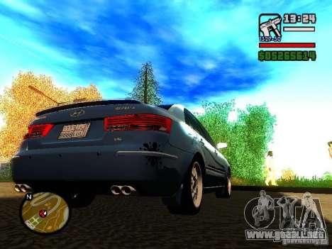 2008 Hyundai Sonata para la visión correcta GTA San Andreas