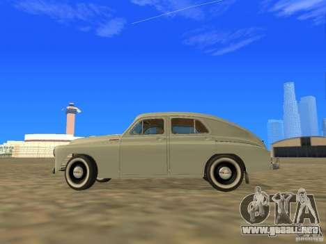 GAZ M20 Pobeda 1949 para GTA San Andreas left