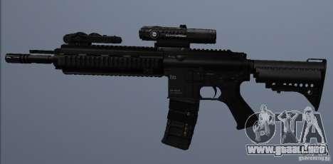 Rifle HK416 para GTA San Andreas sucesivamente de pantalla