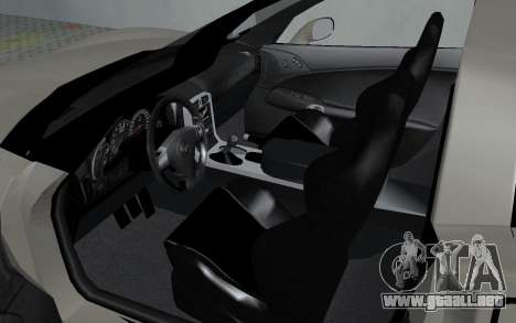 Chevrolet Covette Z06 para GTA San Andreas vista hacia atrás