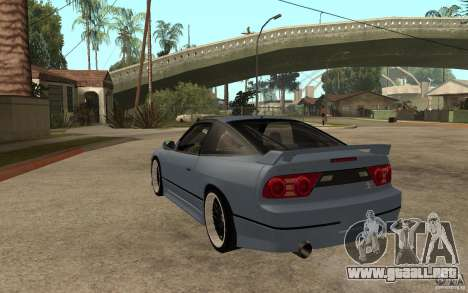 Nissan Silvia80 - EMzone Edition para GTA San Andreas vista posterior izquierda