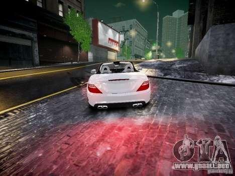 Mercedes SLK 2012 para GTA 4 Vista posterior izquierda