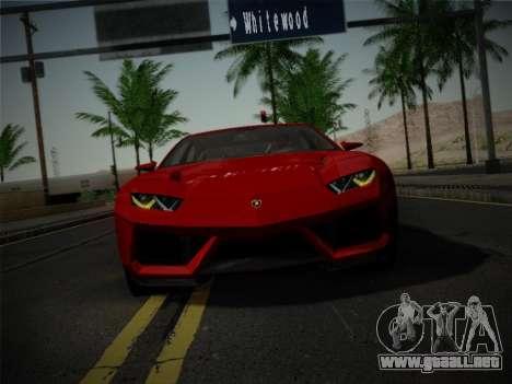 Lamborghini Estoque Concept 2008 para visión interna GTA San Andreas