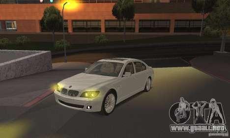Faros amarillos para GTA San Andreas segunda pantalla