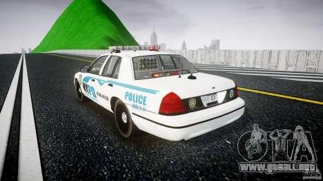Ford Crown Victoria v2 NYPD [ELS] para GTA 4 Vista posterior izquierda