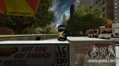 Rockstar bebida energética» para GTA 4 quinta pantalla