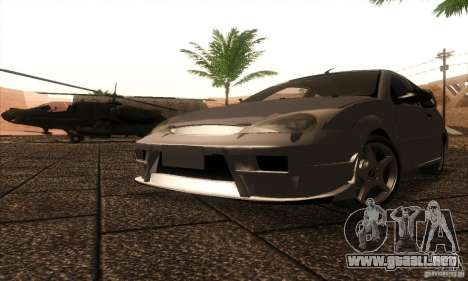 Ford Focus SVT TUNEABLE para GTA San Andreas left
