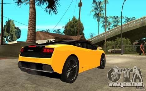 Lamborghini Gallardo LP560 Bicolore para la visión correcta GTA San Andreas
