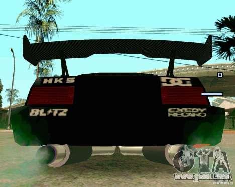 Hotring Racer Tuned para GTA San Andreas vista hacia atrás