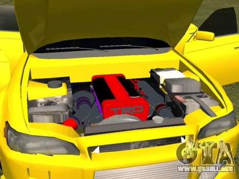 Toyota Mark 2 para vista lateral GTA San Andreas
