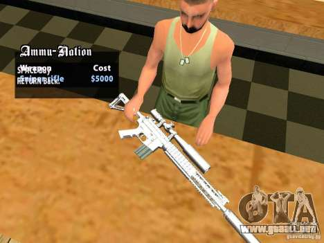 TeK Weapon Pack para GTA San Andreas twelth pantalla