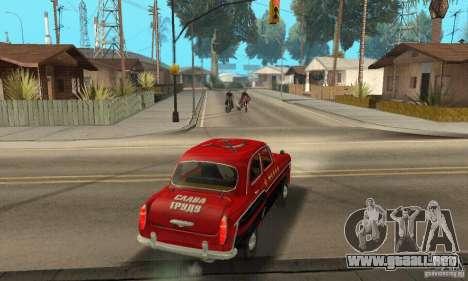 Moskvitch 407 1958 para vista lateral GTA San Andreas