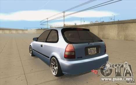 Honda Civic EK9 JDM v1.0 para GTA San Andreas vista posterior izquierda