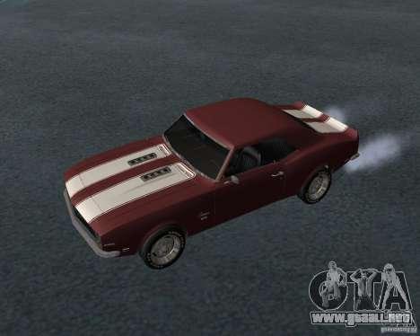 Chevrolet Camaro SS para vista inferior GTA San Andreas