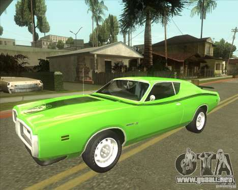 1971 Dodge Charger Super Bee para GTA San Andreas vista hacia atrás