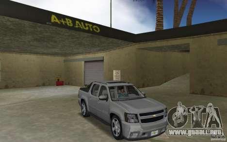 Chevrolet Avalanche 2007 para GTA Vice City vista posterior